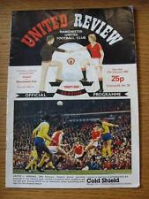 27/02/1982 Manchester United v Manchester City  (Creased, Folded, Marked)