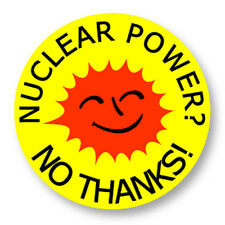 """Pin Button Badge Ø25mm 1"""" Nuclear Power Nucleaire Green Peace Uranium Radioactif"""