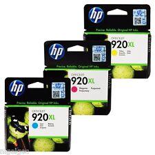 SET 3 INKS HP 920XL HP920XL CYAN MAGENTA YELLOW 920