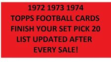 1972 1973 1974 Topps Football Cards PICK 20
