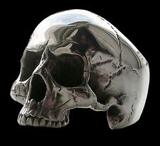 925 Sterling Silver Anatomical Keith Richards Skull Ring 40 Grams Shiny All Size