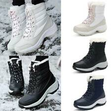 Women Snow Ankle Boots Winter Warm Faux Fur Lined Booties Outdoor Shoes Sizes