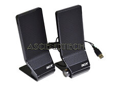 ACER USB POWERED STEREO DESKTOP PC SPEAKERS 9M-20A200-000 SP10600011 MS1238