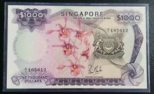 Singapore $1000 Orchid Banknote LKS A/1 165612