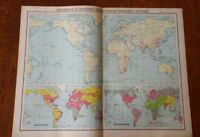 1923 World Map Of Protestant Missions - High Quality Map By John Bartholomew