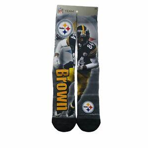 Antonio Brown NFL Team Apparel Sz Large Pittsburgh Steelers NFL Length Socks New