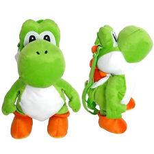 "Backpack 16"" Full Body Mario Yoshi Plush Soft Stuffed Toy Travel Buddy New"