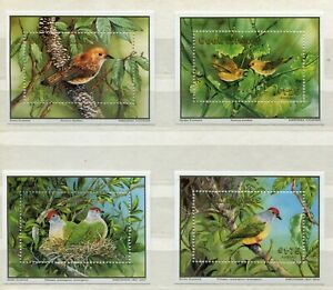 FAUNA_954 1989 Cocos Island birds WWF SHEET 4 pc MNH Combined payments