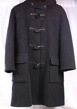 GLOVERALL Duffle Wool Black Dark Gray Over Coat Tall Jacket Women EU 40 US 10