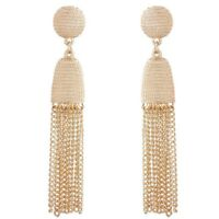 Women Elegant Alloy Metal Chain Long Tassel Earrings Gold Ear Stud Jewelry Gifts