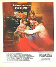 PUBLICITE ADVERTISING 114  1973  BUTANE PROPANE  triple confort chauffage