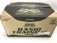 DRAXXUS Basic Training Paintballs Case of 2000 Paintballs NEW Yellow 4 Bags 500