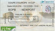 BIARRITZ OLYMPIQUE-NEWPORT RUGBY HEINEKEN CUP 13/12/2009