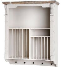 Country Wooden Shabby Chic Plate Rack Kitchen Dining Room Display Wall Mounted