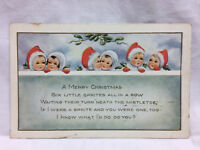 Vintage Postcard A Merry Christmas Greeting Whitney