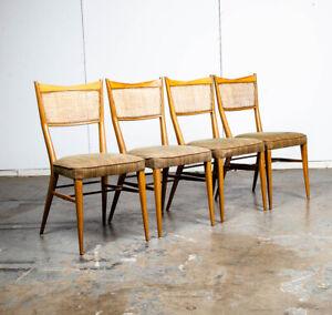 Mid Century Modern Dining Chairs Set of 4 Paul Mccobb Irwin Directional Walnut M