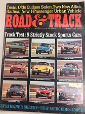 Road & Track Magazine Olds Cutlass Salon New Alfas April 1973 062617nonr