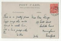Port Erin Isle Of Man 25 Jul 1919 Single Ring Postmark 055c