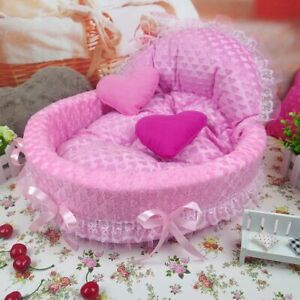 Luxury Dog House Kennel Nest Mat Pet Small Medium Bed Sofa Cage Tool Accessories