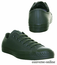 Men Women CONVERSE All Star LEATHER MONO OX KHAKI GREEN Trainers Shoes UK SIZE 7