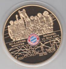 Bayern München  Medaille  EC Landesmeister  Brüssel 1974    127 Gramm  -   65 mm
