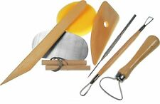 Modellierset 8 teilig Töpferset Modellierwerkzeug Pottery Tool Set Buchsbaumholz