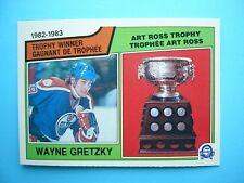 1983/84 O-PEE-CHEE NHL HOCKEY CARD #204 WAYNE GRETZKY ART ROSS TROPHY NM+ OPC