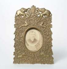 Antique Persian Brass Repousse Picture Photo Frame
