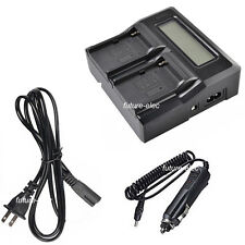 LCD Double Dual Twin Battery Charger for Sony NP-F550 F570 F950 F960+Car Charger