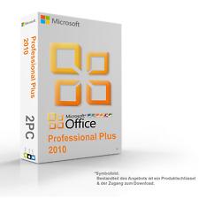 MS Microsoft Office 2010 Professional Plus Original 2PC 64/32-Bit - Vollversion