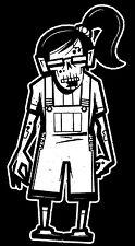 Zombie Headphone Girl Walking Dead Family Vinyl Decal Sticker