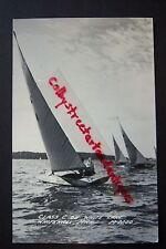 CLASS C on White Lake, Whitehall, Michigan RPPC postcard, sailboats, 1949