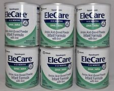 6 cans EleCare Infant Green Can Powder Formula case FREE SHIP AFND