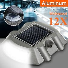 12pcs Solar LED Pathway Driveway Light Dock Path Step Road Outdoor Safety Marker