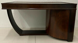 Art Deco Walnut & Smokey Glass Bar / Cocktail Table c.1920s