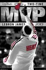 LeBron James TWO-TIME NBA FINALS MVP Miami Heat 2013 Commemorative Wall Poster