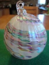 GORGEOUS Hand Blown Glass Ornament! Beautiful design!