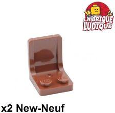 Lego - 2x Minifig utensil siège chaise seat 2x2 marron/reddish brown 4079b NEUF