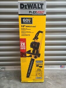 "NEW - DeWalt 60v Flexvolt 16"" Chainsaw 60 Volt Lithium Ion Brushless  DCCS670T1"