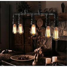 Retro Loft Vintage Industrial Metal Water Pipe Pendant Lights Suspension Lamp