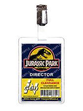 Jurassic Park Director ID Badge Card Cosplay Film Prop Comic Con Halloween