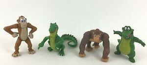 "Rainforest Cafe Lot of 4 Safari PVC 3"" Figures Toys Gorillas Lizard Alligator"