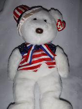 "Ty Beanie Buddies Uncle Sam Bear 16"" Plush Soft Toy Stuffed Animal"