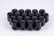 "Set 20 9/16"" Black Lug Nuts 7/8"" Hex for Dodge Ram Trucks Large Seat W1916LSB"