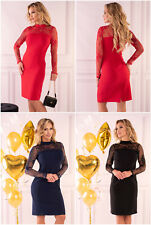 MERRIBEL Astrai Luxury Super Soft Decorative Long Sleeved Knee Length Dress