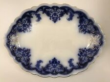 Flow Blue Platter- Georgia Pattern