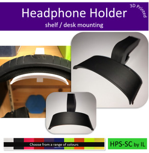 Headset Headphone mount holder bracket shelf / desk mounting clamp UK Made