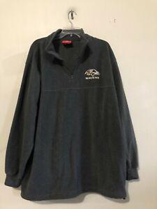 NFL Baltimore Ravens Size XL 1/4 Zip Fleece Sports Apparel  Long Sleeves Unisex
