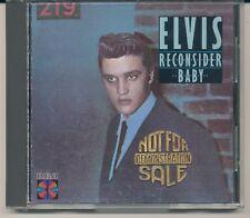 RECONSIDER BABY - ELVIS PRESLEY - CD - BLUE RING ON LBL -  PROMO - EXCELLENT