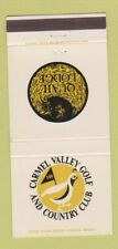 New listing Matchbook Cover - Carmel Valley Golf and Country Club Quail Lodge CA 30 Strike